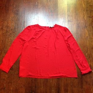 Ann Taylor Loft Red Blouse